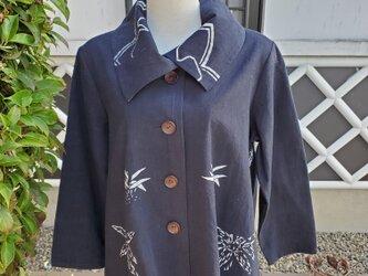 着物リメイク 手作り ふろしき ジャケットの画像
