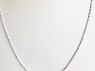 1.2ミリ 45cm  人気‼︎  キラキラ輝く シルバー925 純銀 ネックレス 細いネックレス‼︎の画像