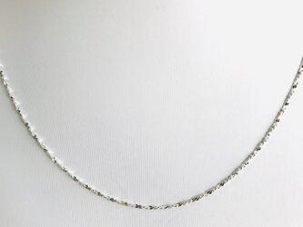1.2ミリ 40cm  人気‼︎ キラキラ輝く シルバー925 純銀 ネックレス 細いネックレス‼︎の画像