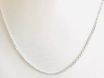 1.7幅ー40cm シルバー925純銀ロロチェーンネックレスの画像