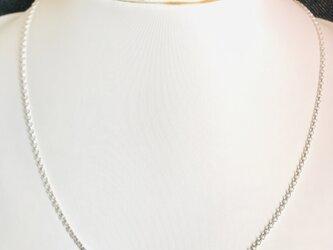 1.7幅ー45cm シルバー925純銀ロロチェーンネックレスの画像