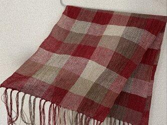 手織りストール W18の画像