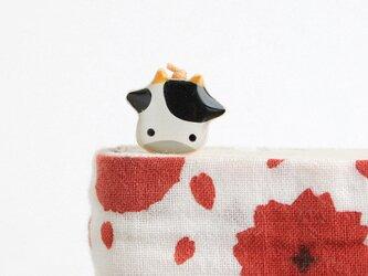 木製 牛しおり 丑(ブックマーカー)の画像