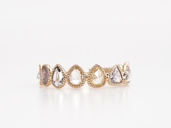 Rosecut diamond eternity ring / Milgrain multiの画像
