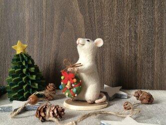 ネズミのクリスマス【リース】(2)の画像