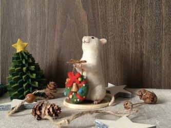ネズミのクリスマス【リース】(3)の画像