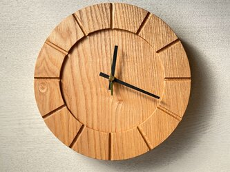 木の時計01(Φ240) No4 |タモの画像
