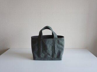 TOTE BAG -bicolor- (M) / armygreen × graybrownの画像