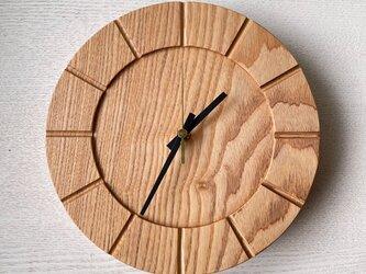 木の時計01(Φ240) No5 |タモの画像
