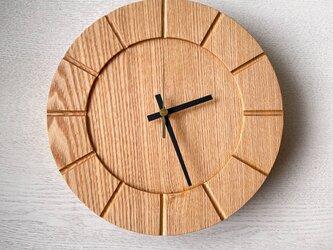 木の時計01(Φ240) No6 |タモの画像