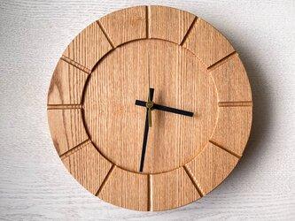 木の時計01(Φ240) No7 |タモの画像