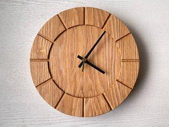 木の時計01(Φ240) No8 |タモの画像