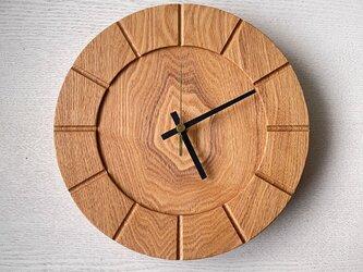 木の時計01(Φ240) No9 |タモの画像