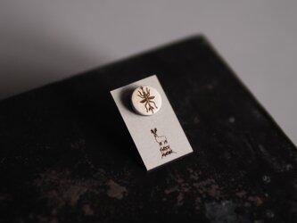 YANAMUSHI DRAW PIN  径12mm ミニピンブローチ <13>の画像