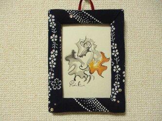 壁掛けアートフレーム・桜と薔薇の画像
