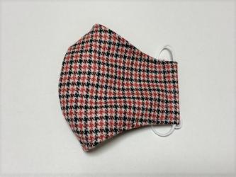 ウールマスク(内側シルク)~千鳥格子の画像