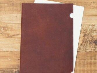 オールレザー A4サイズ レザーファイル 【ワインレッド】 牛革 本革 文房具 ステーショナリー HAK032の画像