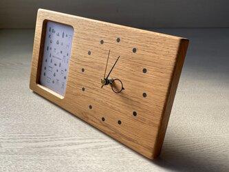 木の時計&フォトフレーム No138 | ナラの画像