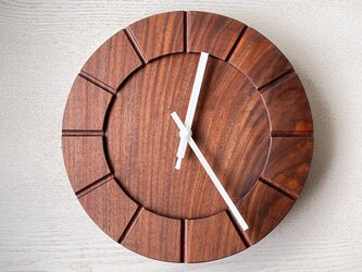 木の時計01(Φ240) No38 | ウォールナットの画像