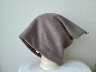 魅せる帽子☆【サイズオーダー可能!!】ゆるゆるかなり大きめ!!2wayワッチキャップ~モスグリーンの画像