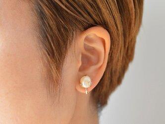 つぼみのイヤリング:片耳:silver925の画像