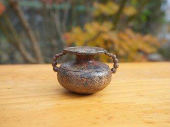 ほころぶ 銅合金花器 焼色の画像