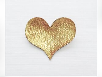 〚 heart 〛sv925 simple heart brooch (gold-plated ver.)の画像