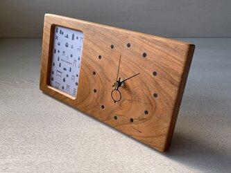 木の時計&フォトフレーム No89 | 山桜の画像