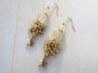 金具変更OK Pierces or Earrings 星 ルチル(P0958)の画像