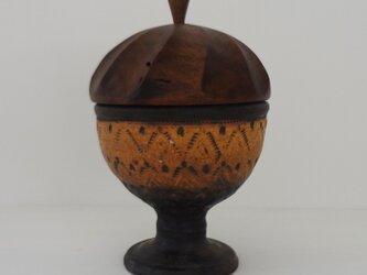 銀彩 印華 馬上杯・蓋物の画像