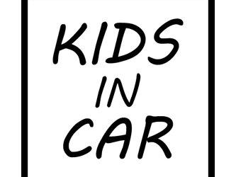 (40-01) KIDS IN CAR ステッカー 14cm×14cmの画像