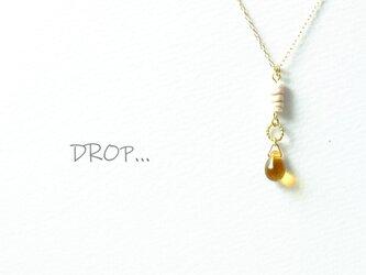 d234_G224【はちみつ】琥珀のしずくのネックレスの画像