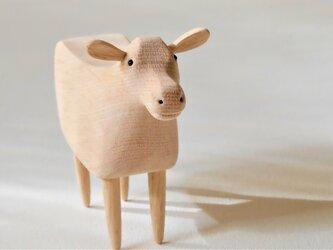 干支 白い牛の画像