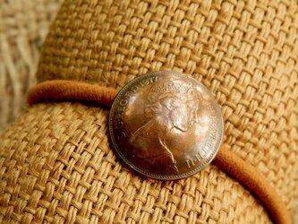 #H63 UK coin Hair Elasticの画像