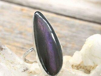 Purple Labradorite Ring SV925 パープルラブラドライトのリングの画像
