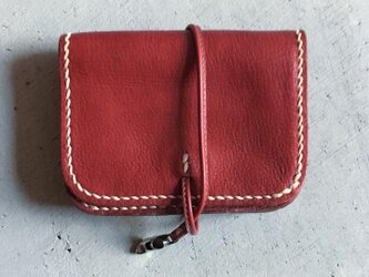 ACCORDION WALLET SMALL  REDの画像
