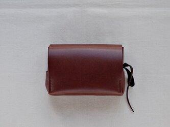 小型財布 こげ茶の画像