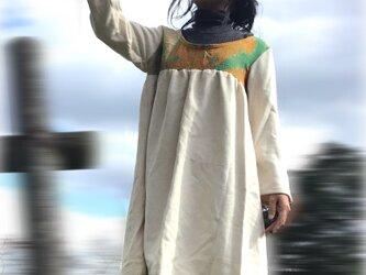 超暖か カシミアウールチュニック ラリーキルトの画像
