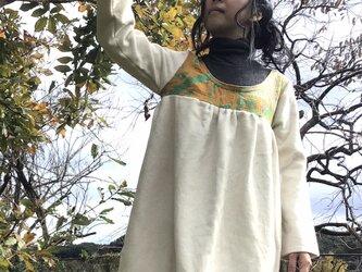 ふわふわ アンゴラ ウール チュニック ラリーキルトの画像
