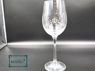 バラのワイングラス イニシャルを入れての画像