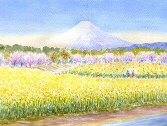 注文制作します 富士山と春景色 4 #441の画像