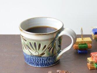 緑釉唐草文マグカップの画像