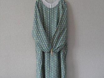 木綿のかっぽう着 ブルーグリーンの画像