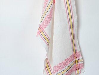手織りリネンクロス【L-Munkabälte*02】の画像