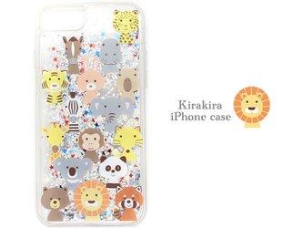 キラキラアニマルface iphone/グリッターケース ブランド/リトルアニマル 携帯 IPHONE モバイルの画像