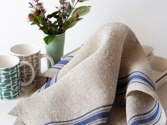 手織りリネンクロス【L-Dräll*02】の画像
