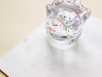 金魚鉢ペーパーウエイトの画像