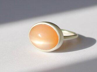 RING SV23 / SILVER925, Orange moonstoneの画像