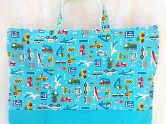 通園・通学バッグ   乗り物の画像