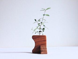 木の花瓶【欅】+階段パーツの画像